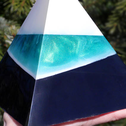 Multi-Layered Resin Pyramid Cast Using GlassCast 50 Epoxy Resin